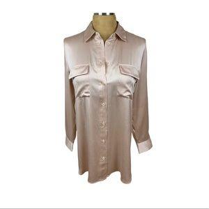 NWT Soft Surroundings Silk Button Down Blouse